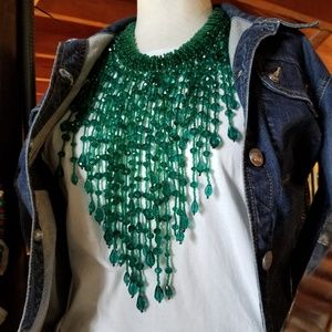 Gorgeous Green Multi-Strand Statement Necklace😍